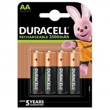 Duracell 2500mAh, AA (4 броя) NiMH акумулаторна батерия