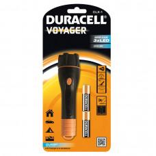 Електрически компактен гумиран фенер Duracell VOYAGER™ CLX-1 2AA - 3 LED