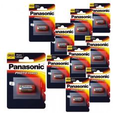 Panasonic CR123A Lithium PHOTO Power комплект от 10 батерии