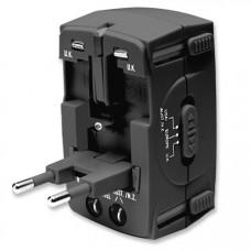Универсален Power Plug Adapter Manhattan със защита от токов удар