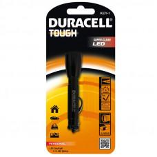 Електрически компактен алуминиев фенер Duracell Tough™ KEY-1 1AAA с ключодържател