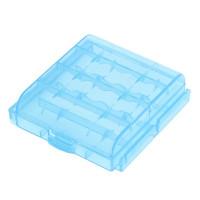 Кутия за съхранение на 4 броя АА, R6 или 5 броя ААА, R03 батерии синя