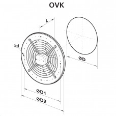 Аксиален вентилатор VENTS OVK 4E 350