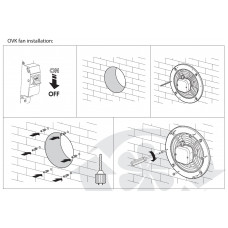 Аксиален вентилатор VENTS OVK 2E 300
