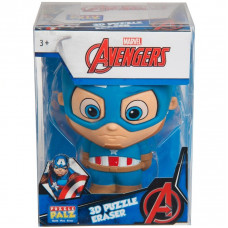 Пъзел гума 3D Marvel Avengers Captain America Eraser XL