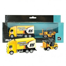Играчка камион и мотокар Truck combination