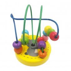 Играчка дървена с елементи за движение, низанка