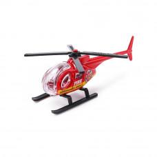Играчка пожарен хеликоптер, вертолет, Die Cast, мащаб 1:64