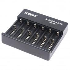XTAR QUEEN ANTII MC6II зарядно устройство за 3.6V и 3.7V Li-Ion акумулаторни батерии