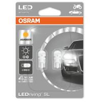 LED лампи Osram W5W AMBER LEDriving 12V, жълта светлина