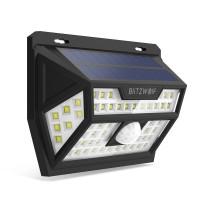 Соларна акумулаторна LED лампа за стена с датчик за движение и осветеност BlitzWolf