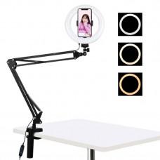 Осветление със статив Puluz 20cm LED Vlogging Ring