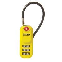 Цинков катинар Stanley® TravelMAX 20 mm Kwikset TSA с гъвкава стоманена скаба жълт